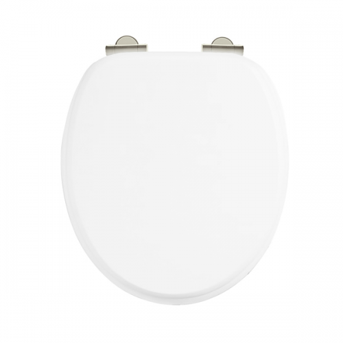 Arcade White Gloss Soft Closing Toilet Seat No Handle-0