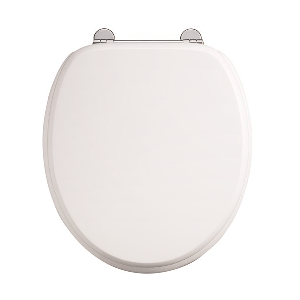Burlington Carbamide White Gloss Soft Closing Toilet Seat-0