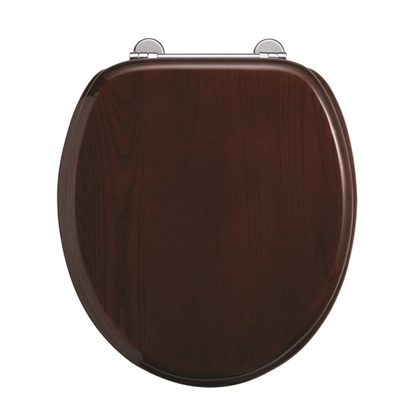 Burlington Wooden Mahogany Soft Closing Toilet Seat-0