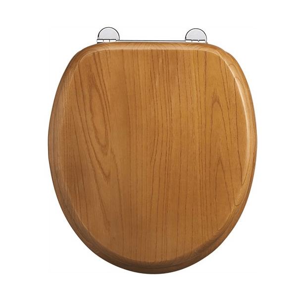 Burlington Wooden Oak Standard Toilet Seat 110.S11-0
