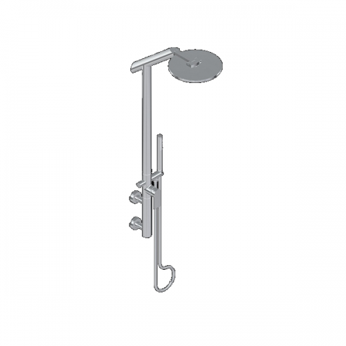 Graff Sento Exposed Wall Mounted Polished Chrome Shower Kit -0