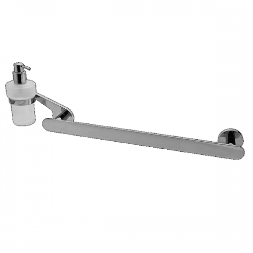 Graff Sento Wall Mounted Towel Bar And Soap Dispenser-0