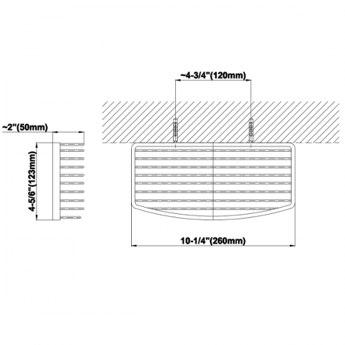 Graff Sento Wall Mounted 260mm Chrome Shower Basket-15543