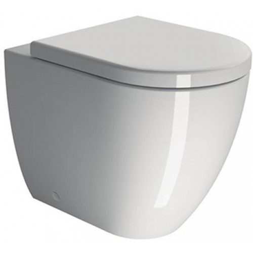 GSI Pura 55cm Back To Wall Pan With Soft Close Seat-0
