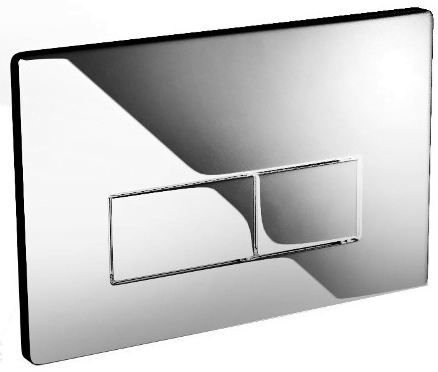 Saneux Flushe 2.0 Square Polished Stainless Steel Flush Plate -0