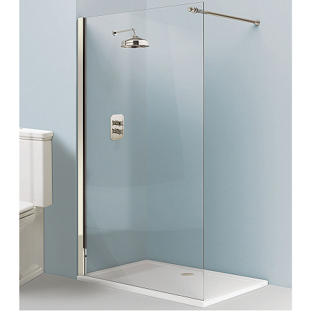 Simpsons Arcade 1400mm Easy Access Traditional Nickel Walk In Glass Panel-0