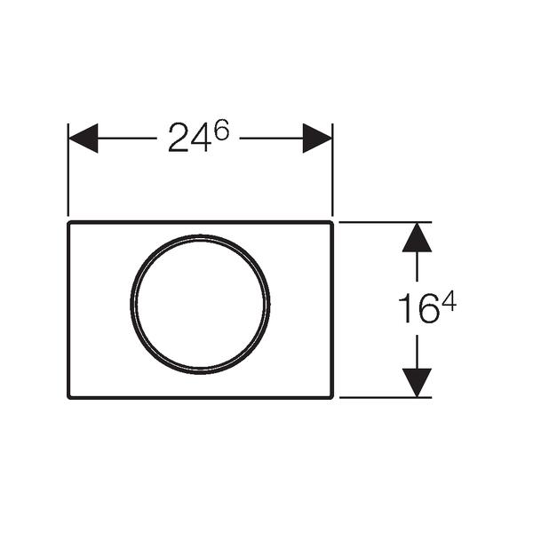 Geberit Sigma10 Brushed Stainless Steel Single Flush Plate-16445