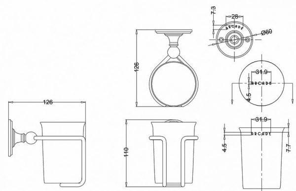 Arcade China Mug And Holder 139.ARCA2NKL