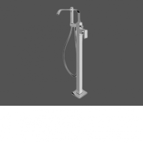 Graff Immersion Polished Chrome Floor Mounted Bathtub Mixer