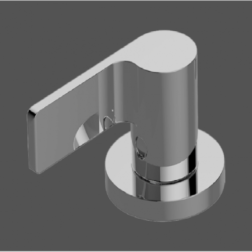 Graff Terra Polished Chrome Deck Mounted Bathtub Valve - counter clockwise opening