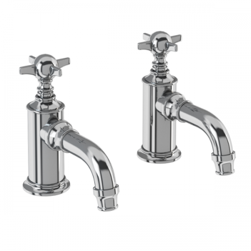 Arcade Chrome Crosshead Cloakroom Basin Pillar Taps-0