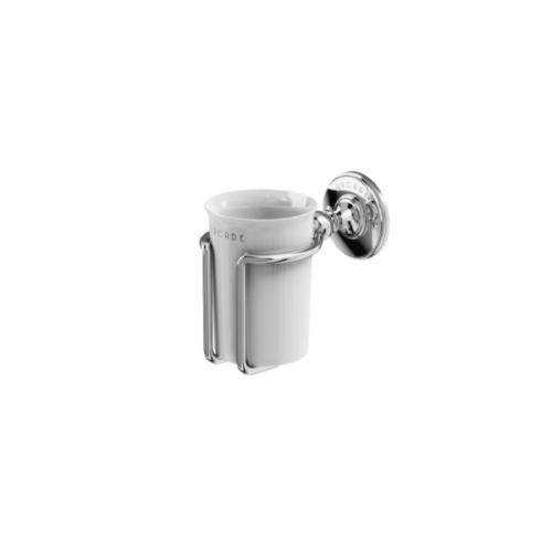 Arcade Chrome Plated Wall Mounted China Tumbler Holder-0