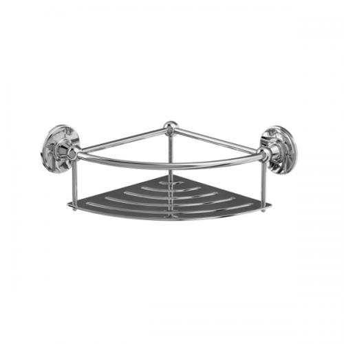 Arcade Chrome Plated Wall Mounted 218mm Corner Basket-0