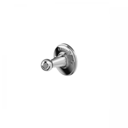Arcade Chrome Plated Wall Mounted Single Robe Hook-0