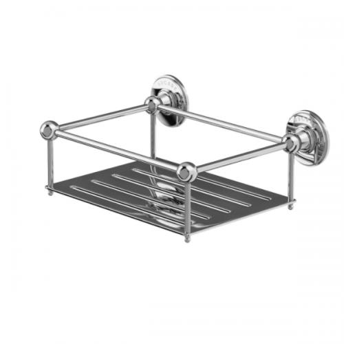 Arcade Chrome Plated Wall Mounted Rectangular Basket-16346