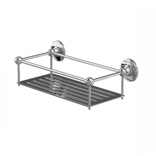 Arcade Chrome Plated Wall Mounted Wire Shower Basket-0