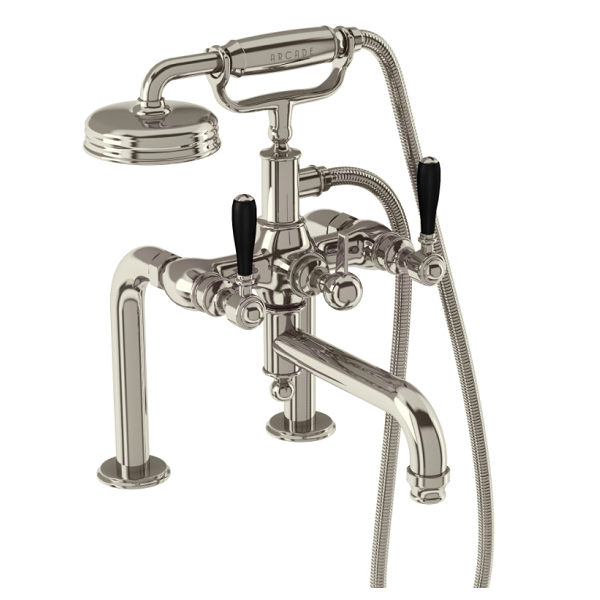Arcade Chrome Deck Mounted Crosshead Bath Shower Mixer-16200