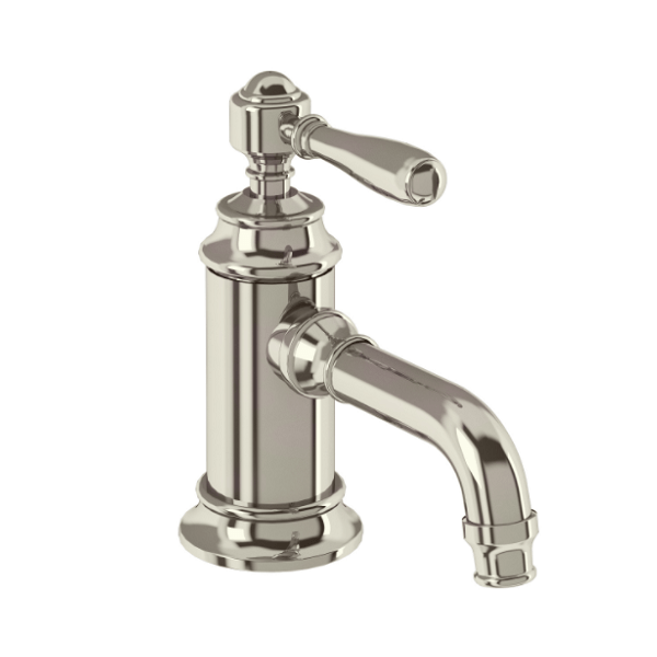 Arcade Nickel Single Handle Crosshead Basin Mini Mixer-15949