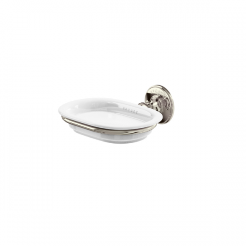 Arcade Nickel Plated Wall Mounted China Soap Dish Holder-0