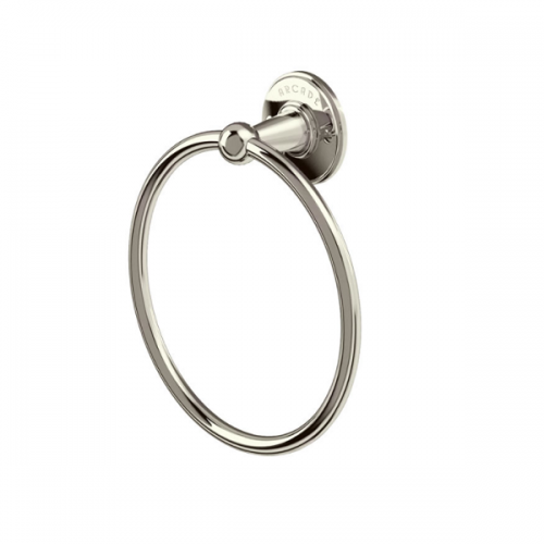 Arcade Nickel Plated Wall Mounted Round Towel Ring-0