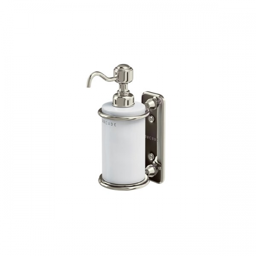 Arcade Nickel Plated Wall Mounted Single Soap Dispenser-16276
