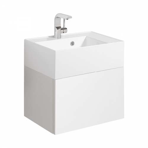 Bauhaus Elite Drawer White Gloss 50cm Vanity Unit EL5000DWG+-0