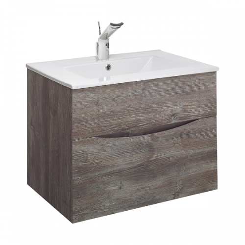 Bauhaus Glide II 700 Slim Basin And Driftwood Unit GL7000DDW+-0