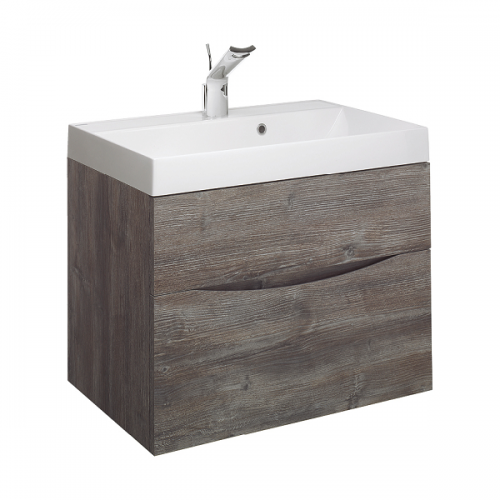 Bauhaus Glide II 500 1TH Basin and Driftwood Unit GL5000DDW+-0