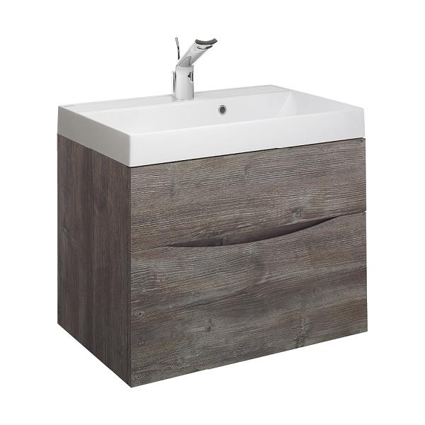 Bauhaus Glide II 700 1TH Basin and Driftwood Unit GL7000DDW+-0