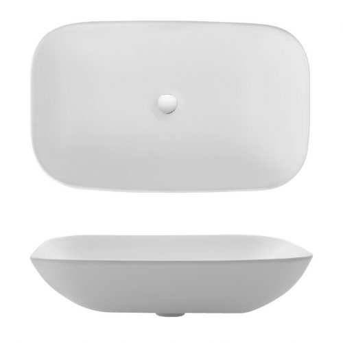 Bauhaus Serene Long Countertop Basin CT0234UCW-0