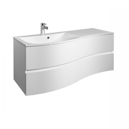 Bauhaus Svelte 120cm White Gloss Unit And 1TH Basin-0