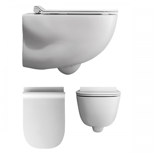 Bauhaus Wild Wall Hung WC Pan With Thin Line Seat-0