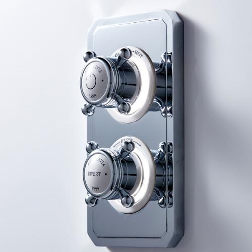Crosswater Belgravia Digital Crosshead Dual Outlet HP Valve-0