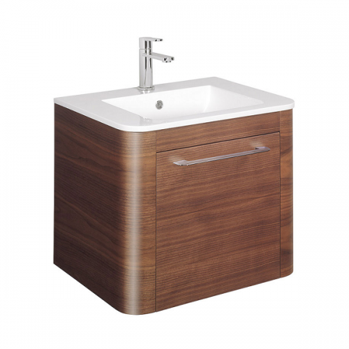 Bauhaus Celeste 60 American Walnut Drawer Unit and Basin-0