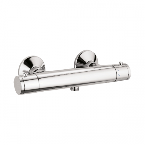 Crosswater Kai Exposed Chrome Thermostatic Shower Valve-0