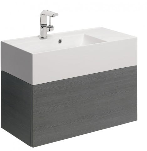 Crosswater Elite Drawer Vanity Unit 70 in Steel EL7000DST