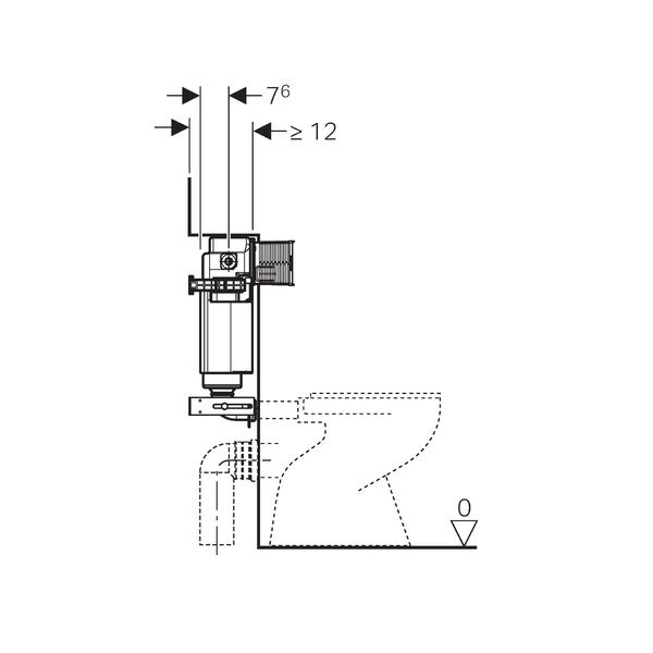 Geberit Kappa Concealed 15cm Dual Flush Cistern-16399