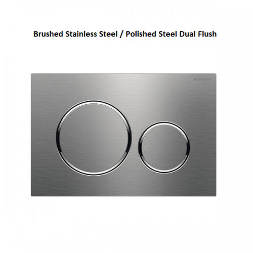 Geberit Sigma20 Brushed Stainless Steel Dual Flush Plate-0