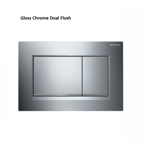 Geberit Sigma30 Square Gloss Chrome Dual Flush Plate-0