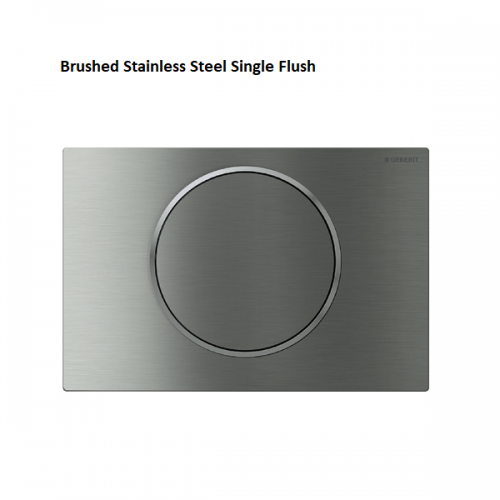 Geberit Sigma10 Brushed Stainless Steel Single Flush Plate-0