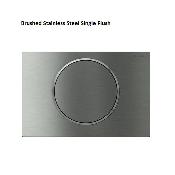 Geberit Sigma10 Brushed Stainless Steel Single Flush Plate-0