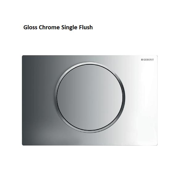Geberit Sigma10 Brushed Stainless Steel Single Flush Plate-16444
