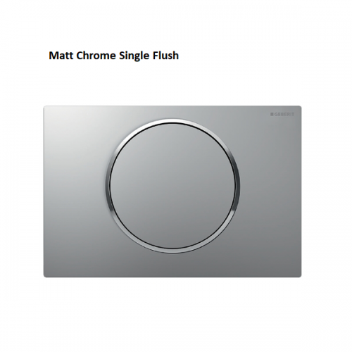 Geberit Sigma10 Brushed Stainless Steel Single Flush Plate-16441
