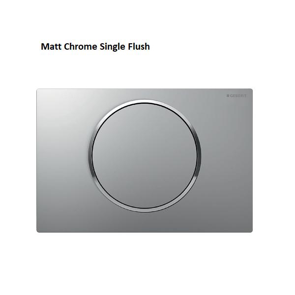 Geberit Sigma10 Brushed Stainless Steel Single Flush Plate-16441