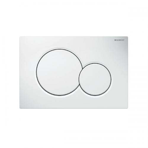 Geberit Sigma01 White Alpine Plastic Dual Flush Plate -0