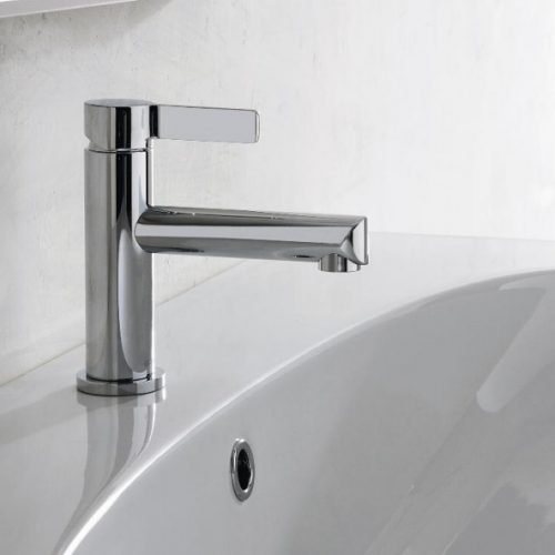 Graff Terra Polished Chrome Single Lever Basin Mixer - 12cm Spout-0