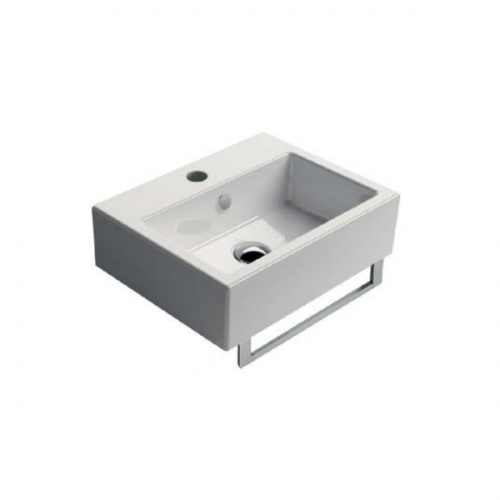 GSI Kube 45 1 Tap Hole 450x350mm Washbasin With Overflow-0