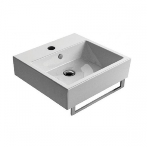 GSI Kube 50 Wall Mounted 500x470mm 1 Tap Hole Washbasin-0
