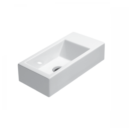 GSI Kube 50/d 1TH Right Hand Washbasin With Overflow-0