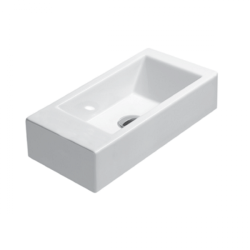 GSI Kube 50/s 1TH Left Hand Washbasin With Overflow-0